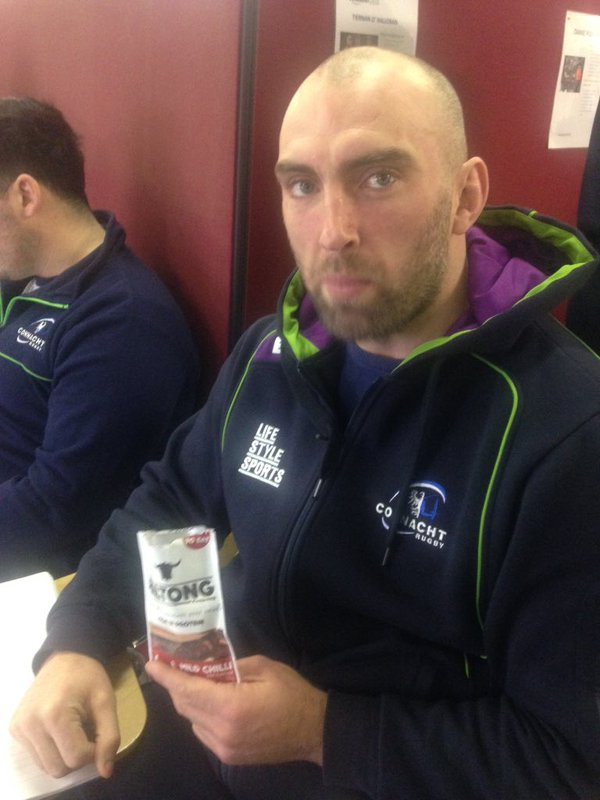 John Muldoon with Irish Biltong