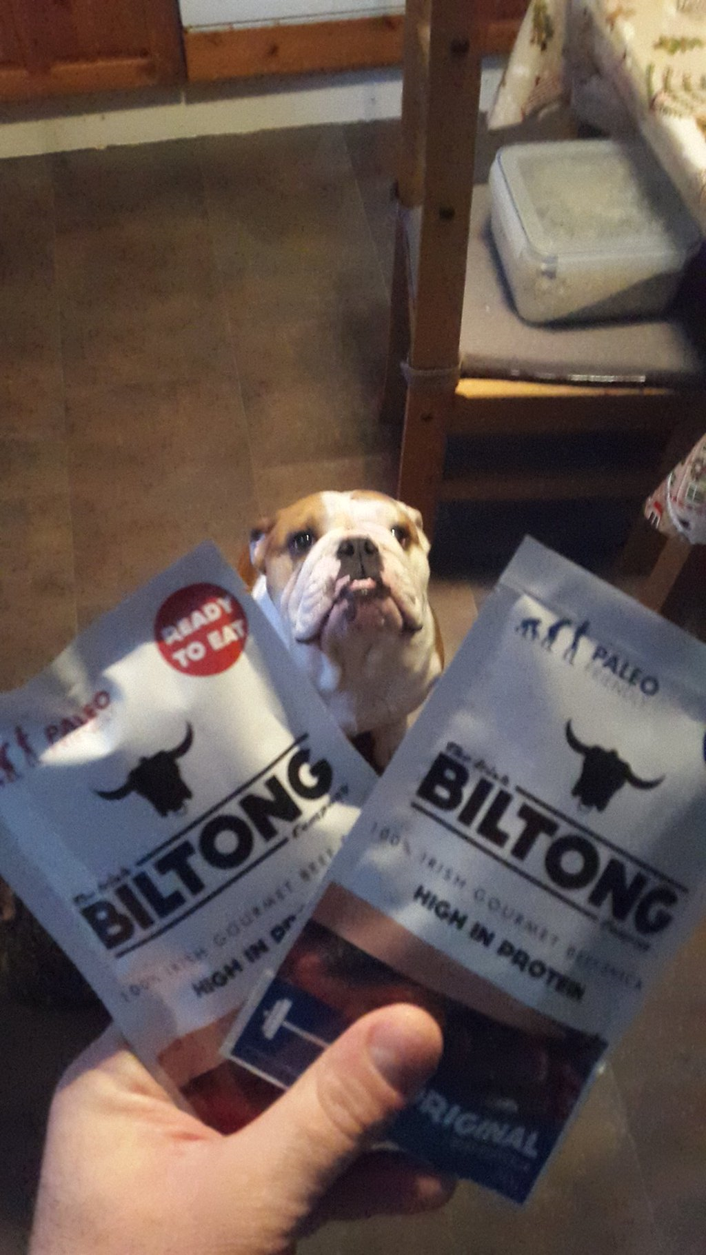 Kevin O Byrne at home with Irish Biltong