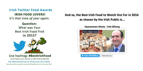 Irish Biltong wins Irish Food Guide Award