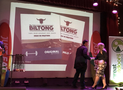 Irish Biltong wins Just Eat 'Fit Food' Award for 2016