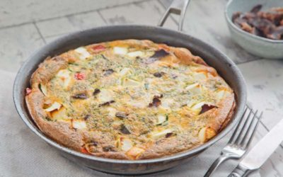 Biltong, Veggie & Feta Frittata