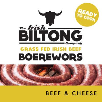 Irish Biltong Boerewors - Beef and Cheese
