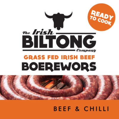 Irish Biltong Boerewors - Beef and Chilli