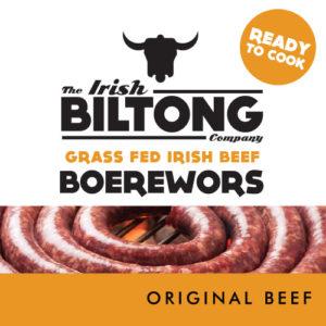 Irish Biltong Boerewors - Original Beef