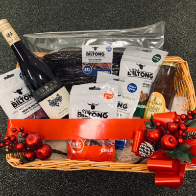 Irish Biltong Christmas Hamper - FREE Wine
